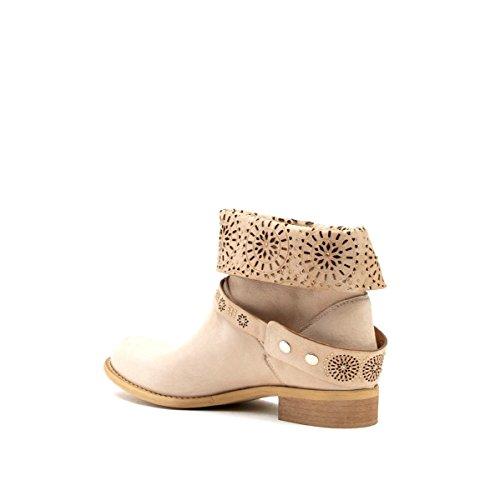 f82a8bdeb9 Chaussures pour femmes Cafè Noir Qge209 Montone Bottines Avec Microstrass,  Laserature Et Cuir Fusant E15.094 Beige ...