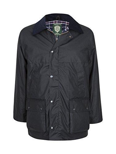 Portmann Herren Premium Qualität gepolstert Wachsjacke Hergestellt in UK - Marineblau, XXL -