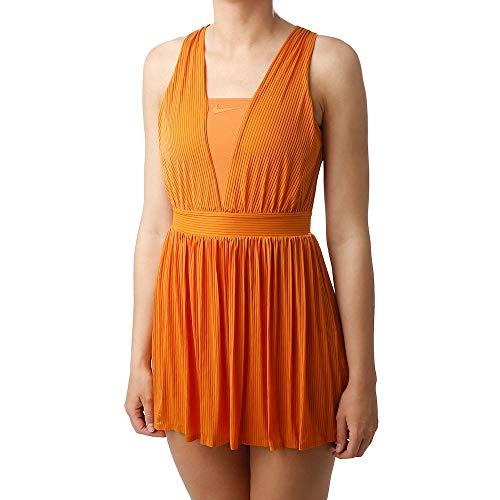 Nike Damen Maria W Nkct Dry Dress Ny Kleid, Monarch/Hyper Crimson/Gittereisen/Gittereisen, M