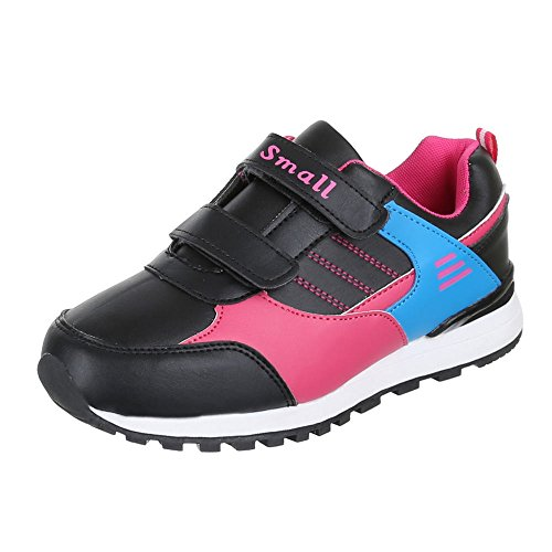 Chaussures pour enfants, S25–1, loisirs chaussures sneakers sportive Noir - Schwarz Rosa