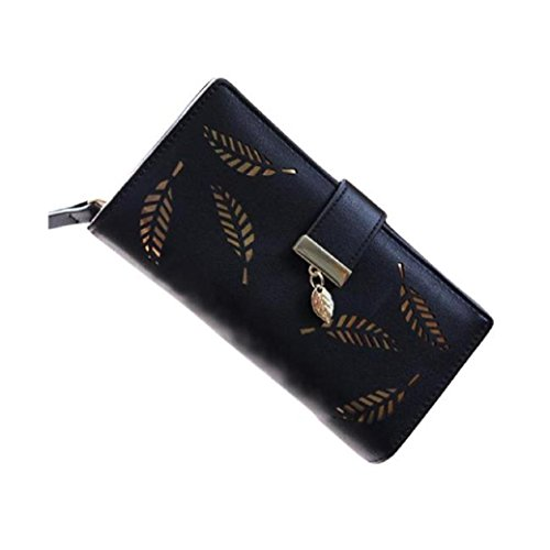 fami-fahion-femmes-purse-holder-clutch-carte-feuille-elegante-en-cuir-noir