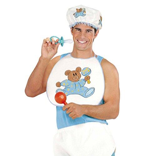 NET TOYS Baby Kostüm Verkleidung für Erwachsene BLAU Fasching Babykostüm Karneval Kleinkind Outfit Junge Junggesellenabschied (Für Baby-outfits Erwachsene)