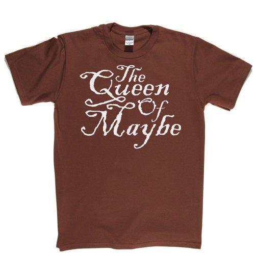 Queen Of Maybe Female Girl Attitude Princess Tee T-shirt Braun