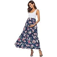Vestido De Maternidad ZARLLE Vestido sin Mangas de Gran tamaño para Mujeres Embarazadas, Vintage, Vestido de Encaje,Vestido de Cintura Alta