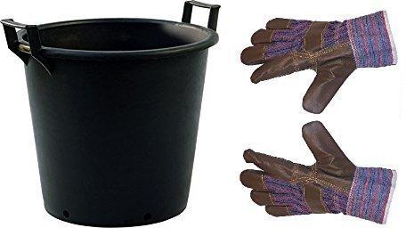 2x 35L grandi dimensioni vaso in plastica ideale per esterni/giardino/albero/Planter/contenitore con manici
