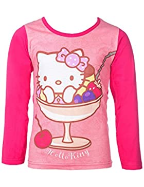 Hello Kitty Langarm-Shirt, original Lizenzware, pink, Gr. 92 - 116