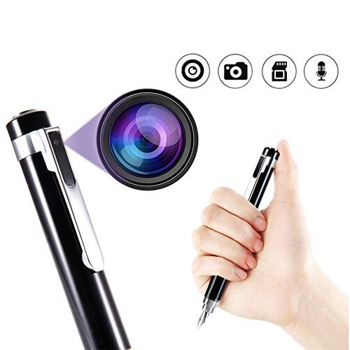 1080p full hd camera mini fotocamera penna indossabile full body pen camera smart digital dvr piccola videocamera dv supporto da 32gb card (nero)