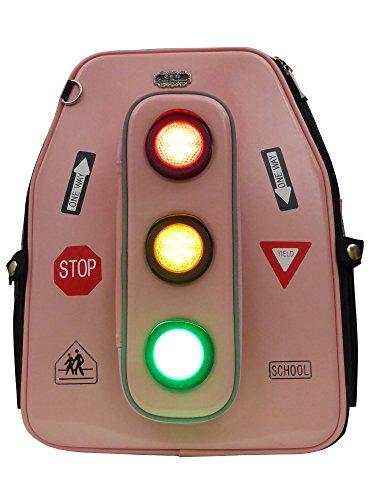 85c3f9c2c5629 Mädchen-Schulranzen für die Grundschule mit LED-Beleuchtung und Blinklicht  Pink