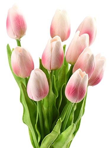 fiveseasonstuff-10-pezzi-tocco-realistico-tulipani-artificiale-mazzo-di-fiori-ideale-per-matrimoni-s
