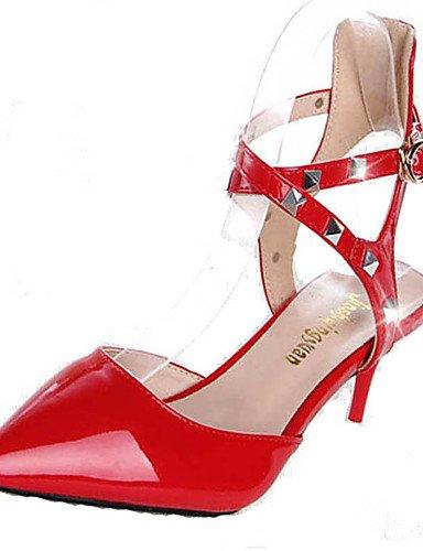 WSS 2016 Chaussures Femme-Mariage / Soirée & Evénement-Rouge / Blanc-Talon Aiguille-Talons / Bout Pointu-Talons-Polyuréthane red-us7.5 / eu38 / uk5.5 / cn38