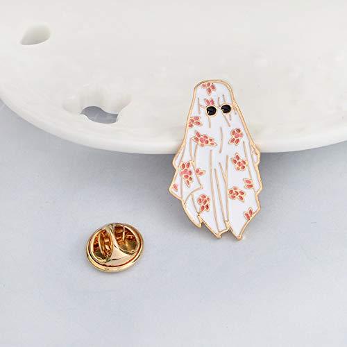 Truteraa - Weihnachten Dubai Emaille Pin Arabian Blume weißes Gewand Sonnenbrille Brosche für Männer, Junge Kleidung Jacke Rucksack Pins Abzeichen-Karikatur Schmuck
