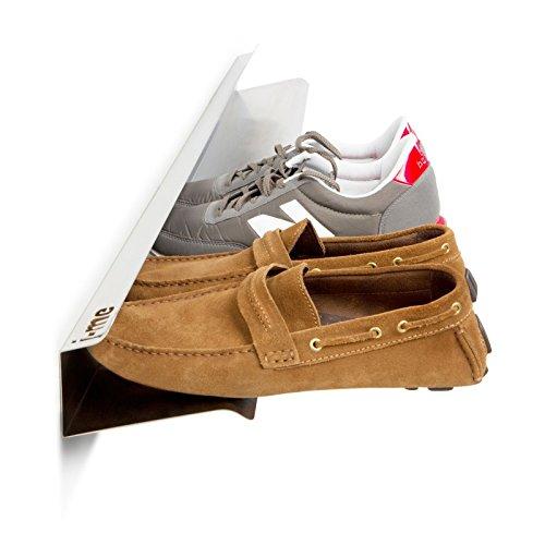 j-me original design Étagère à chaussures Blanc 120 cm