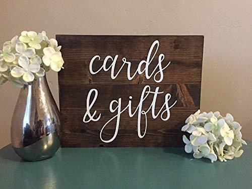 Monsety Cards and Gifts Holzschild für Hochzeit, Walnusshaus, Dekoration, Holz (E-gift Card Hochzeit)