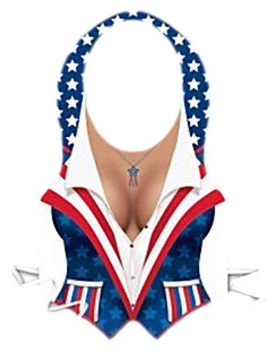 erdbeerloft - Karneval Kostüm Accessoire Amerika Weste, Blau