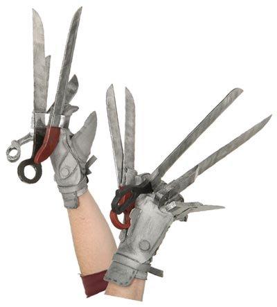 Generique - Handschuhe Edward mit den Scherenhänden für Erwachsene (Mit Scherenhänden Handschuhe Kostüm Den Edward)