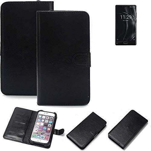 K-S-Trade® 360° Wallet Case Handyhülle Für Doogee Mix Lite 4G Schutz Hülle Smartphone Flip Cover Flipstyle Tasche Schutzhülle Flipcover Slim Bumper Schwarz, 1x