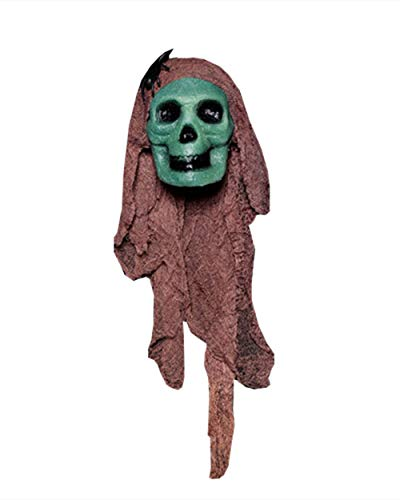 GEIUEIMAN Halloween Party Für Halloween Nacht Bar Haunted House Dekoration Requisiten Blase Simulation Blutungen Kopf Friedhof Horror Dress Up Silk Silk Ornament