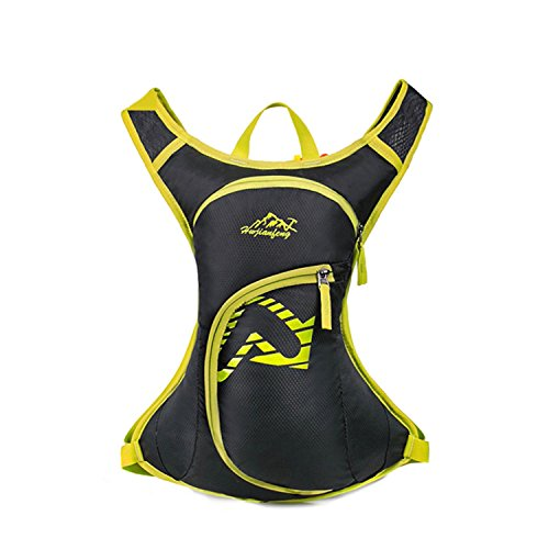 HWJF Reittasche Outdoor Freizeittasche Wasserdichte Nylon Camping Tasche Fahrradtasche Multifunktions Rucksack Yellow