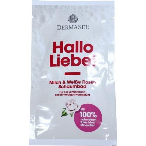 Milch Schaumbad (DermaSel Totes Meer Schaumbad Hallo Liebe, 40 ml)