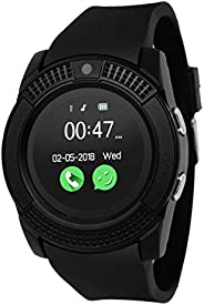 Speeqo V8 Bluetooth Activity Tracker/Smart Watch with Pedometer, Call and SMS Notification and SIM Card Slot f