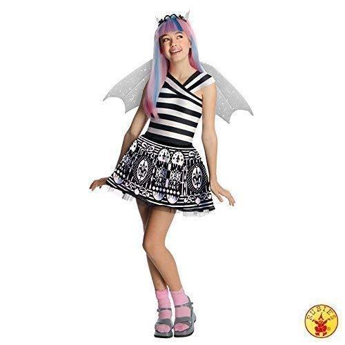 Lively Moments Edles Kostüm Monster High Rochelle Goyle mit Perücke Kleid Gr. M = 116 - - Monster High Twyla Kostüm Perücke
