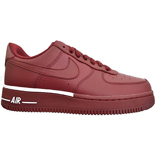 Nike Mens Air Force 1 07 Team Red White Leather Trainers 46 EU (Nike High Heels Sneakers)