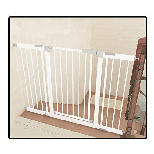 QIANDA Türgitter Treppenschutz Gitter Breite 75-222cm Wand Befestigt Metal Erweitern Kids Barrier Protector Öffnet Sich Zu Beiden Seiten (Size : 208-215cm) Metal Protector