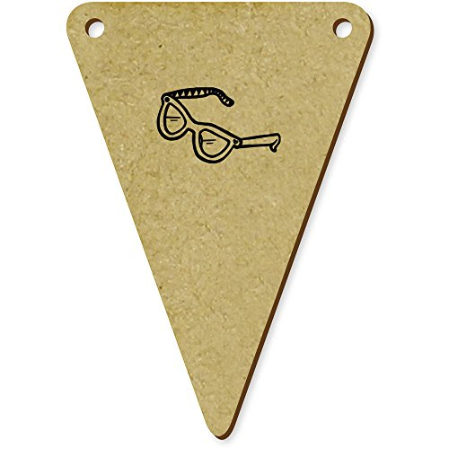 5 x 70mm 'Lunettes de Soleil' fanions triangles en bois (BN00008667)