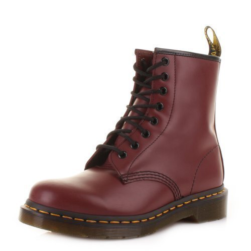 Dr. Martens - Bottines Cuir Rouge Cerise 8 Oeillets 1460 - Rouge, 42