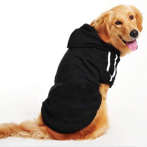 Namsan mittlere Hunde und grosse Hunde Sport-Kapuzenpullis, Hundestrickjacke, Hundemaentel --Black XXL