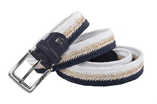 Cintura uomo RENATO BALESTRA blu bianco beige intrecciata in corda 120 cm R6202