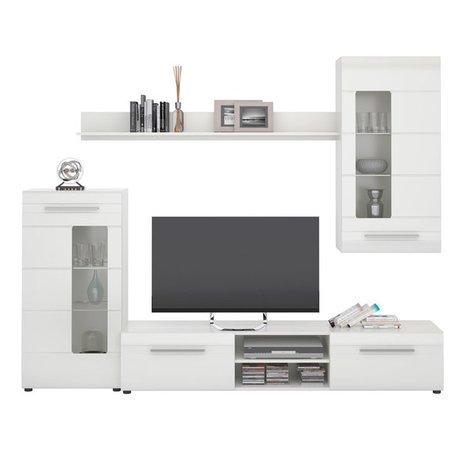 ROLLER Wohnwand IGLESIA 1 – weiß Hochglanz – 235 cm breit - 2