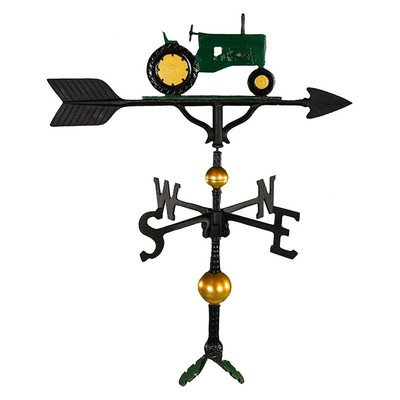 Montague Metall Produkte 32Deluxe Wetterfahne mit Grün Traktor Ornament