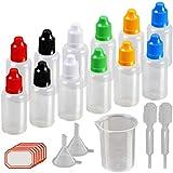 12 X 30ml cuentagotas del frasco de KAKOO plástico la dosificación de tuna botes eliquid la botella transparente y para llenar líquido, cierra de rosca de seguro para los niños