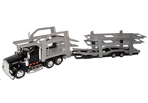 Kenworth-lkw-modelle (Kenworth W900 Autotransporter Schwarz Truck LKW 1/43 New Ray Modell Auto)