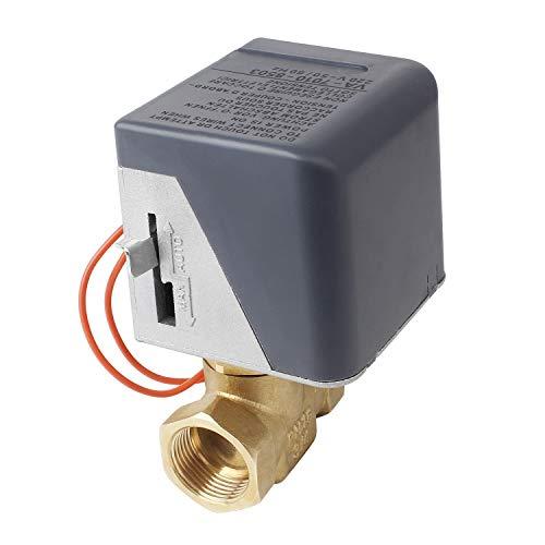 Miafamily Elektrisches Ventil Hysteresemotor Zonenventil Messing Absperrhahn 2 Wege,DN20 G3/4 Zoll, AC 230V, für Umschaltventil Kugelventil