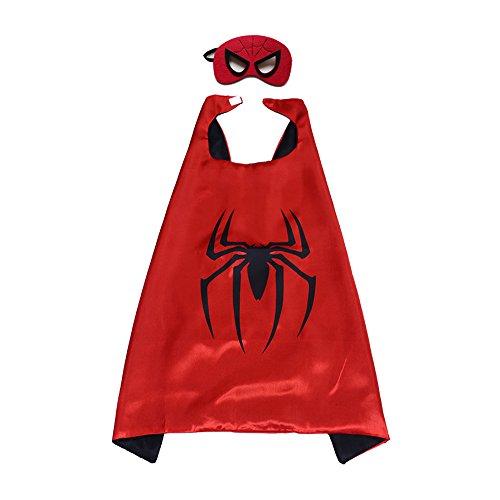 Kinder-Umhang mit Superhelden-Muster, Hammer Robin, für Jungen und Mädchen, - Batman Girl Kostüm Maske