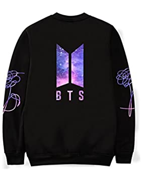 SIMYJOY Lovers Love yourself Bangtan Boys JIMIN Felpe BTS KPOP Cielo stellato Pullover Hip Hop Felpa Top per Uomo...
