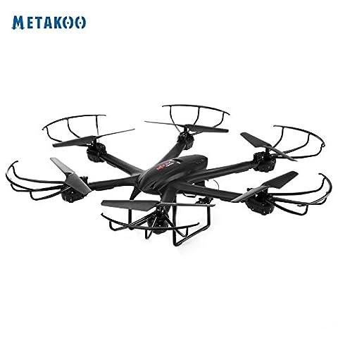 Metakoo X601 RC Quadcopter Drohne mit WIFI FPV Kamera und Höhe Halten Funktion 2,4 GHz 4 Kanal 6 Achsen Gyro 3D Flip Headless Modus Ein Schlüssel automatischer Rückkehr Hexacopter