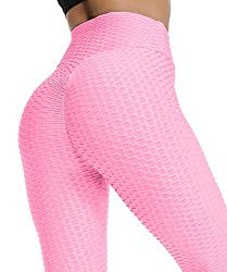FITTOO Damen Sport Leggings Leggings Yoga Fitness Hose Lange Sporthose Stretch Workout Fitness Jogginghose,XL,Rosa