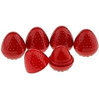 Sharplace 5pcs/Set de Bálsamos Labiales Hidratantes Sabor de Fruta de Fresa para Labios Secos