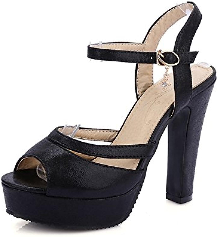 ZHZNVX Scarpe Scarpe Scarpe donna similpelle estate,in due pezzi sandali Chunky Heel Peep toe strass per partito informale,Sera...   Clienti In Primo Luogo  38aacf
