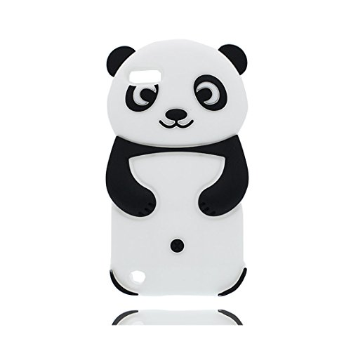 Hülle iPod Touch 6, TPU flexibel langlebig iPod Touch 6 Handyhülle Cover Case Shell [Impact Shock Resistant] + [Generation] (Kompatibel mit Apple iPod Touch 6th 3D Panda - Touch-wechsler Ipod