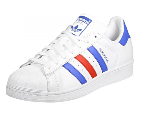 Unbekannt, Sneaker Homme Blanc Blanc Blanc / Bleu