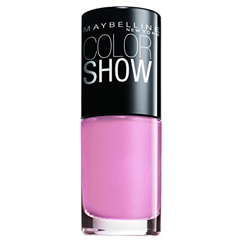 Maybelline New York Make-Up Nailpolish Color Show Nagellack Nebline / Ultra glänzender Farblack in leuchtendem Pink, 1 x 6,7 ml (Maybelline Make-up Box)