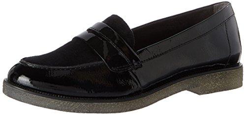Tamaris Damen 24205 Slipper, Schwarz (Black), 39 EU (Schwarze Canvas-loafer)