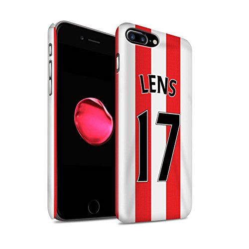 Offiziell Sunderland AFC Hülle / Glanz Snap-On Case für Apple iPhone 7 Plus / Matthews Muster / SAFC Trikot Home 15/16 Kollektion Lens