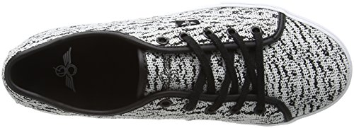 Creative Recreation Kaplan, Baskets Basses Homme Multicolore - Multicolor (White Black Knitted)