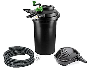 Aqua-Tech Teichfilter Druckfilter 15000 UV Pumpe PondoMax 8000
