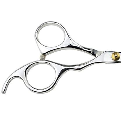 "LILYS PET 5.5"" Stainless Steel Small Ball Tip Facial Hair Scissors for Nose Hair,Ear Hair,Face hair,Paw hair (Symmetrical handle) 3"